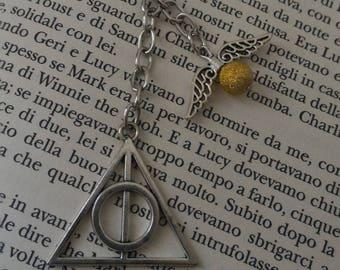 Harry Potter Keyring; Golden Snitch Keyring; Deathly Hallows Keyring; Unisex Keyring; Gift For Her; Gift For Him