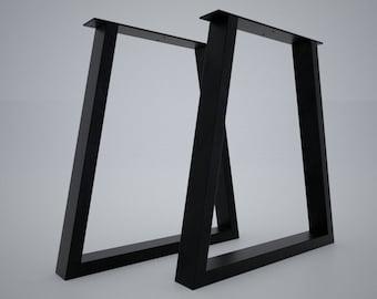 Tavolo In Ferro Brunito E Legno : Gambe tavolo ferro etsy