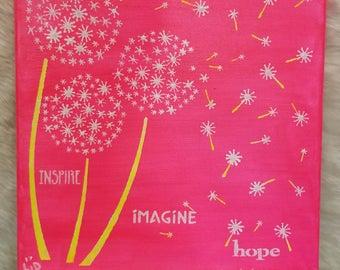 Inspire Imagine Hope painting