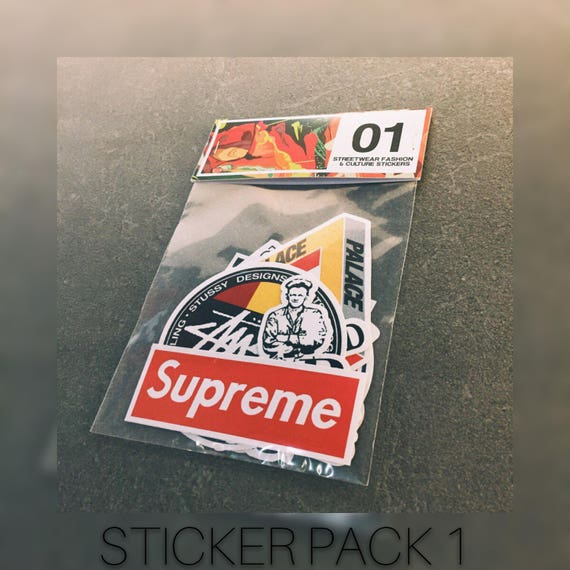 1b09aa0bb9f4 Brand Stickers Stickers pack Vinyl stickers Supreme