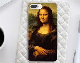 Leonardo Da Vinci iPhone 8 Case Google Pixel Case Mona Lisa Art iPhone X Clear Samsung S7 Case Samsung S8 Plus Case iPhone 7 Case CHA1051
