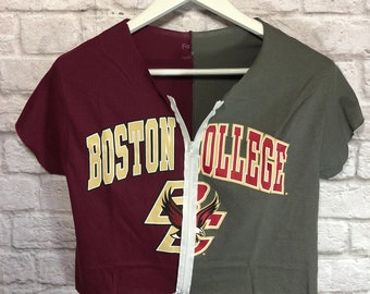 b8c4617c0 Boston College 1/2 & 1/2 Shirt / Boston Eagles / College Shirt / Tailgate  Apparel / Game Day Shirt / College Shirt / Grad Gift /