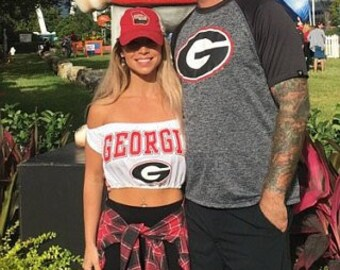 Georgia Bulldogs Tube Top / College Football Apparel / | Etsy