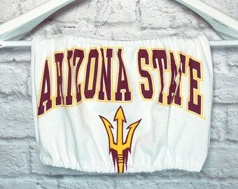 42992742de ASU T-shirt Tube Top   Sun Devils   Tailgate Crop Top   Football Shirt    College Tube Top   Game Day Clothing   Arizona State Gift