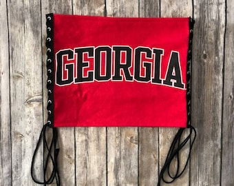 205ada30174 University of Georgia Lace Up Tube Top   UGA Gift   Game Day Tube Top    Tailgate Clothing   Tailgate Tops   College Tube Top