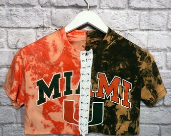 02aa921f3d Miami Hurricanes 1 2   1 2 Full Lace Up   University Shirt   Game Day    Tailgate   Football Shirt   College   Game Day Clothing