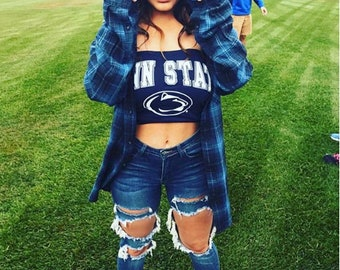 80c8e02380b84 Penn State T-Shirt Tube Top   Pennsylvania State University Shirt   PSU    Nittany Lions   Game Day Clothing   Tailgate Tops