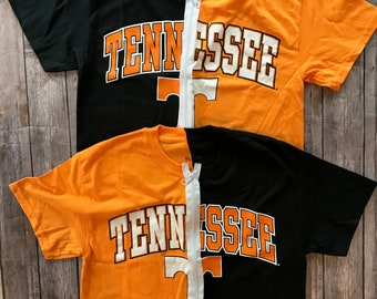 University of Tennessee  1/2 and 1/2 Zipper Top / Volunteers Apparel  / Tailgate Apparel / Game Day Shirt / Grad Gift / Vols Tee /