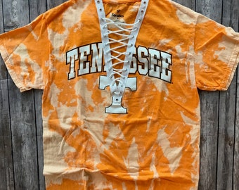 University of Tennessee Lace Up Tee / Vols shirt / Volunteers Apparel / Tailgate shirts / Game Day Tops