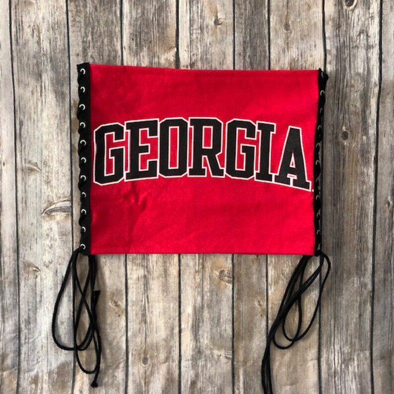 University of Georgia Lace Up Tube Top / UGA Gift / Game Day Tube Top /  Tailgate Clothing / Tailgate Tops / College Tube Top