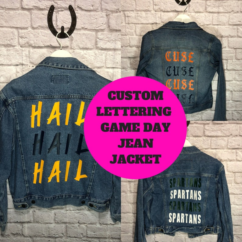 c691b43f5f Custom College Jean Jacket   Custom College Denim Jacket