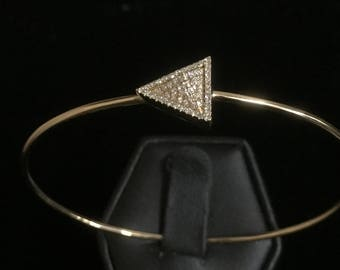 Diamond studded triangle bracelet