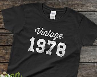 6793a2f0 1978 Graphic Tee | 40th Birthday Shirts For Women | Birthday Gifts For Her  | 70s T Shirts | 40th Birthday Gift | 40th Birthday TShirt