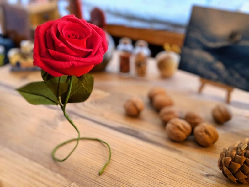Home and Event Decor Single Stem Crepe Paper Rose