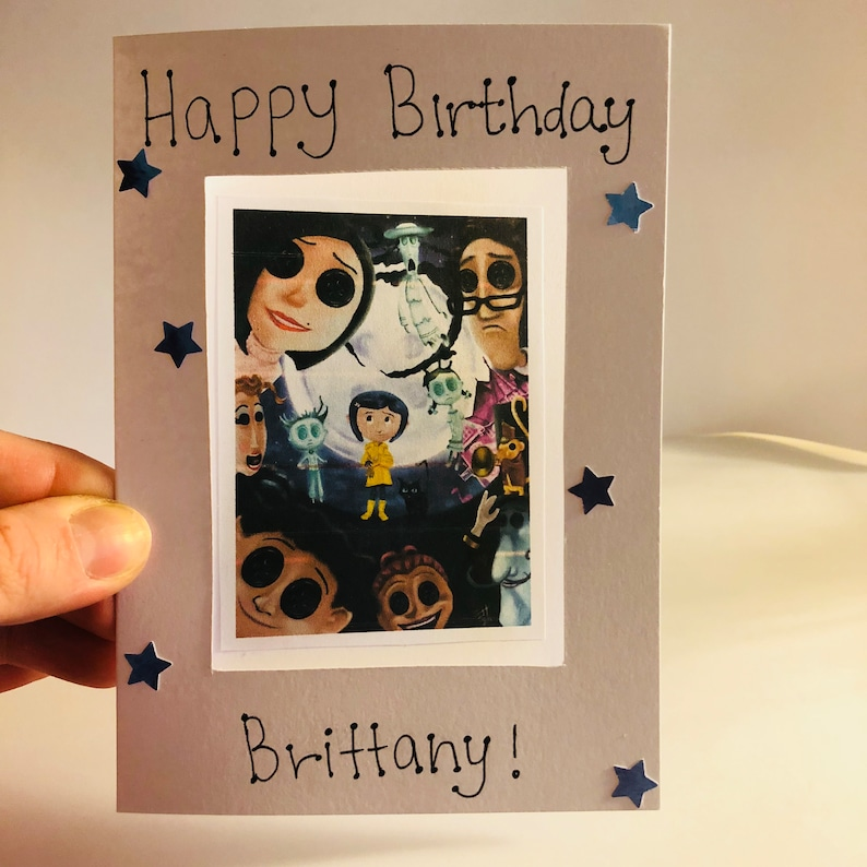 Custom Made Birthday Card Coraline Personalised