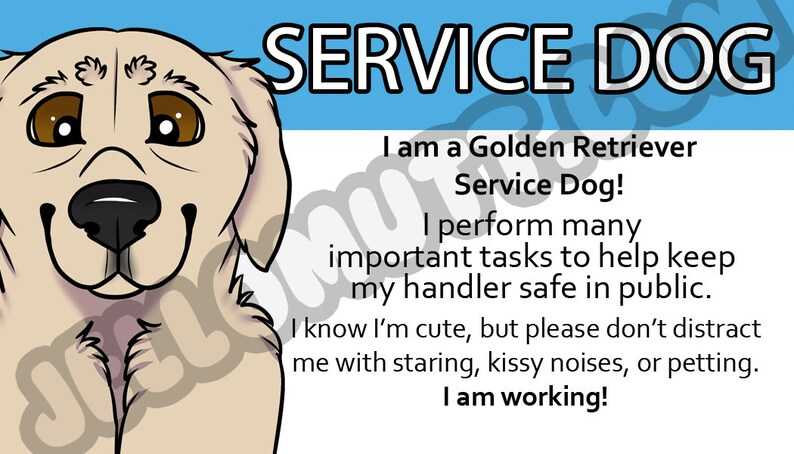 It is a picture of Printable Ada Service Dog Card intended for pdf