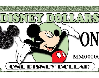 picture relating to Disney Dollars Printable identify Enjoy cash Etsy