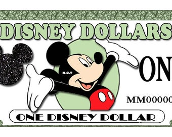 photo about Disney Dollars Printable identified as Perform economical Etsy