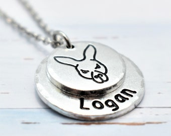 Kangaroo Necklace,  Personalised. Pet lovers or Memorial Necklace