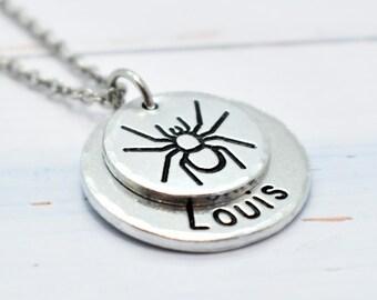 Tarantula, Spider Arachnid necklace,  Personalised. Pet lovers or Memorial Necklace