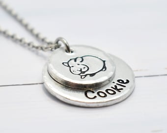 Hamster Necklace, Personalised, Pet necklace, memorial necklace, rip Hamster, Hamster jewellery, Hamster Fan