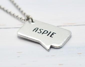 Aspie Necklace, Autistic, Autism Jewellery