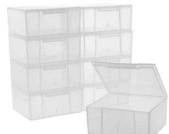 10 Storage Square Clear Containers for Small Items Organizer 2.5 inches