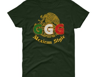 c5e0f7c1afdccd GGG Mexican Style Gennady Golovkin Triple G fight shirt for the legendary  Canelo vs Golovkin Las Vegas Fight