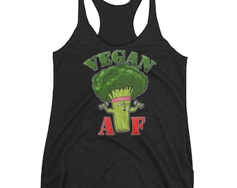 Vegan AF one of a kind vegetarian veganism shirt. Show everyone the vegetable life is the best healthy option to really make some gains.  As