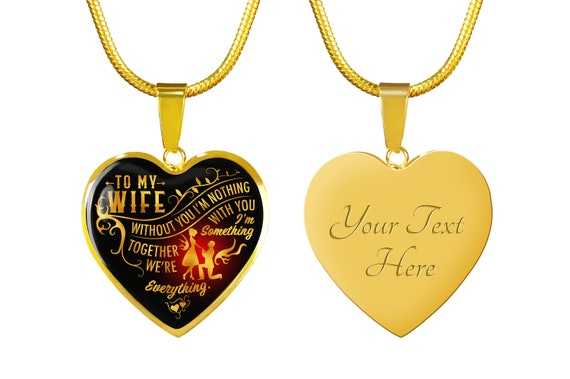Funnyd Charm Necklace Jewelry Gift for Women 18K Gold Plated HusbandAndWife Gifts Necklace for Mom and Daughter to My Young I Wish I Could Turn Back Clock I Will Find You Sooner