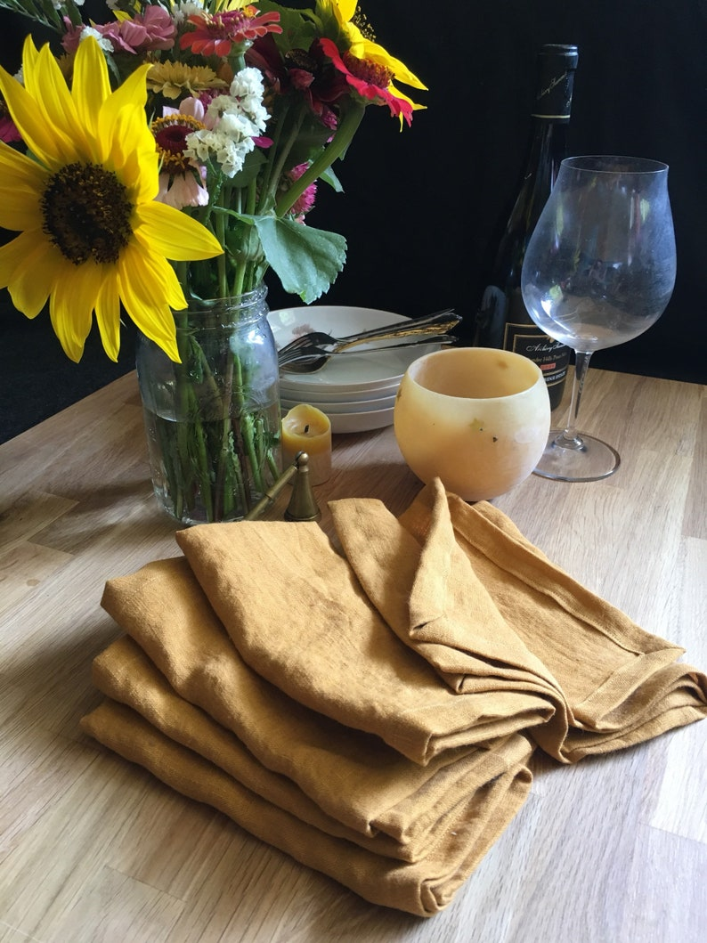 Ready to Ship/ Washed Linen Dinner Napkins image 0