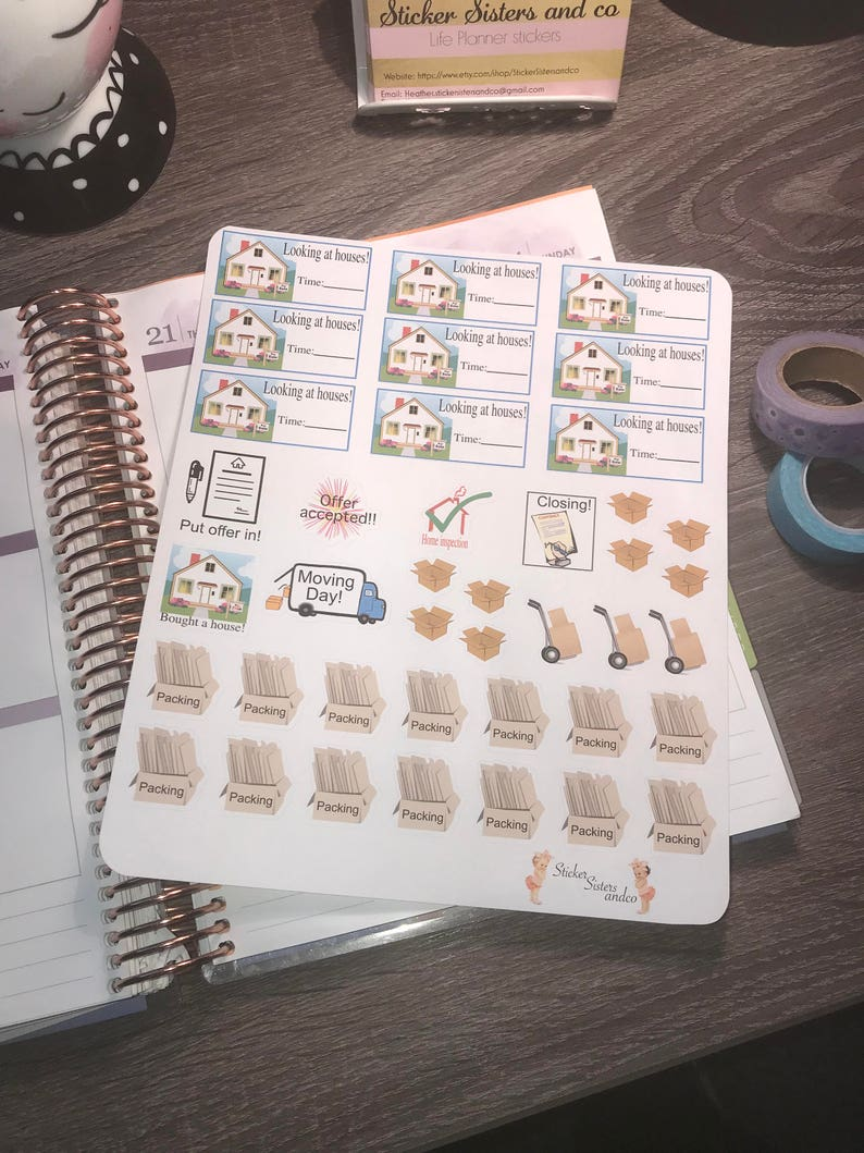 Moving stickers. Perfect for any planner image 0