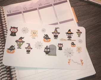 Halloween stickers. Perfect for any planner!