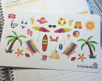 Beach stickers. Perfect for any planner!