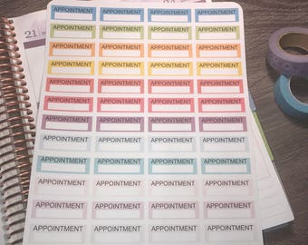 Appointment stickers. Perfect for any planner!
