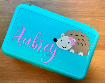Pencil pouch Hedgehog gifts for girls Pencil bag Personalized pencil case kids Personalized gift for kids