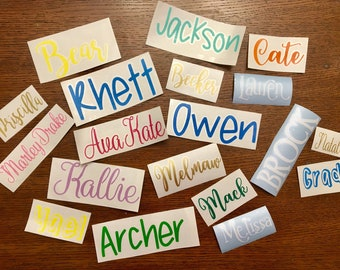 Vinyl Name Decal, *FREE SHIPPING* Personalized Sticker, Laptop Sticker, Tumbler Decal, Custom Label