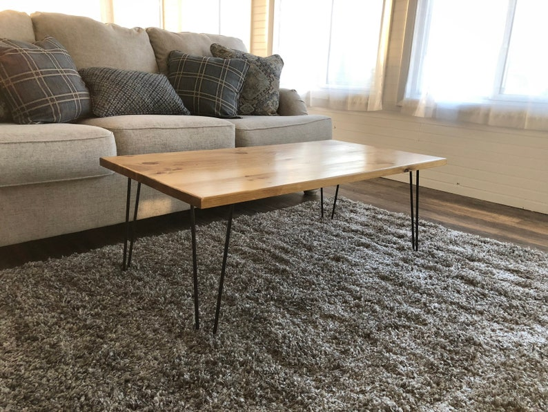 Hairpin Coffee Table Coffee Table Rustic Coffee Table Etsy