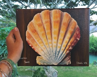 Sunrise Shell Oil Painting *Canvas Print*