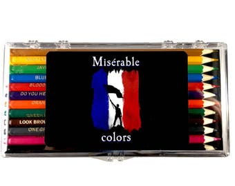 Misérable Colors - 12 Les Mis Themed Colored Pencils