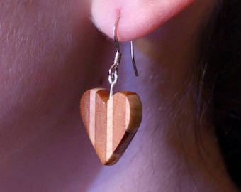 Cherry and Maple Heart Earring