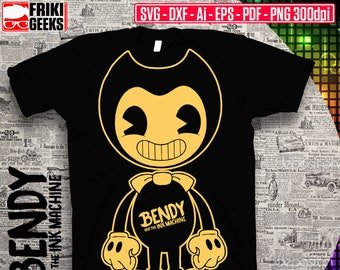 Bendy and the Ink Machine SVG, dxf, EPS, AI, PDF, PNG 300dpi, Cricut, Cutfiles Silhouette cameo, Digital Download