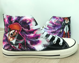 dc4395f994bf Items similar to Harley Quinn Shoes-Canvas Sneakers-painted shoes ...