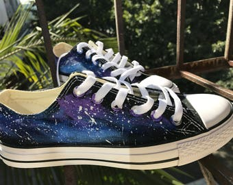 Galaxy Converse Custom Converse Nebula Converse Painted Converse Galaxy Sneakers Galaxy Trainers Galaxy Chuck Taylors Galaxy Painted Shoes