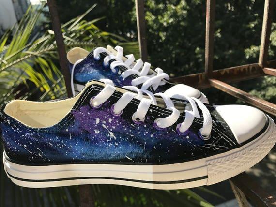 Galaxy Converse Custom Converse Nebula Converse Painted Converse Galaxy  Sneakers Galaxy Trainers Galaxy Chuck Taylors Galaxy Painted Shoes c799d47f954