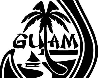 guam decals etsy Guam Tourist more colours guam seal