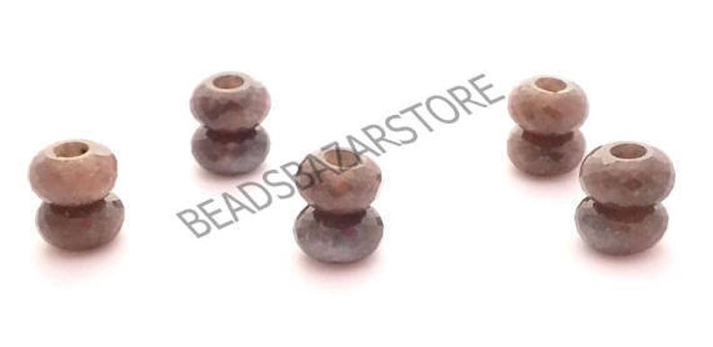Natural Gray Moonstone,European Bracelet Fit Charm Beads,14*8mm,5mm Hole