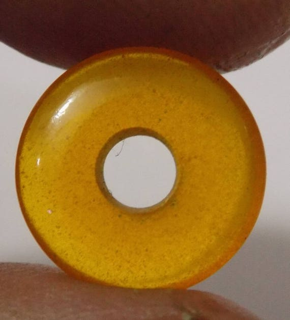 Chinese Fire Opal Donut Beads Round Circle Beads Round Big Hole Beads Round Spacer Beads Handmade Beads 2 Piece 12mm-25mm