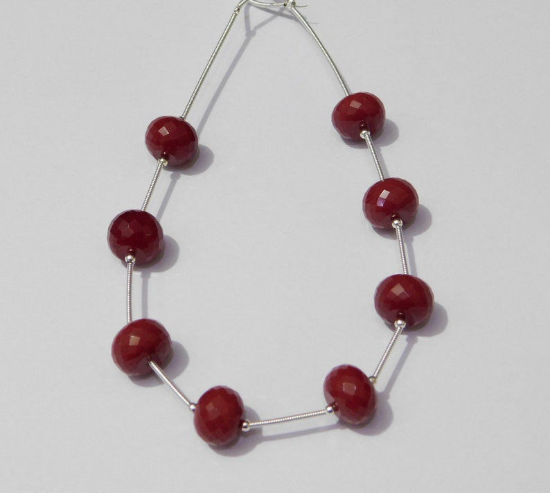 AAAA Chinese Carnelian Quartz Faceted Handmade Rondelle Loose Beads 8x12mm 4 Matched Pair
