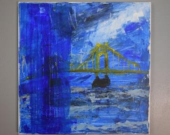 Pittsburgh (Acrylic on Canvas)